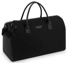 JIMMY CHOO PARFUMS Black Overnight Weekender Travel Gym Duffel Bag HandBag NEW
