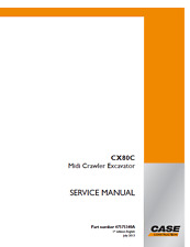 Case Crawler Excavator CX80C Workshop Service Manual