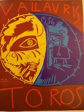 Pablo Picasso Poster,Tipped In, Offs.Lithograph,1971 Nr18, Vallauris 1956 Toros
