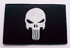 The Punisher Comic Book TV show skull flag logo Iron On Patch Sew On transfer