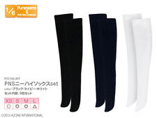 Azone Pureneemo PNS Over-knee Socks Set Black/Navy/White Blythe Momoko Obitsu