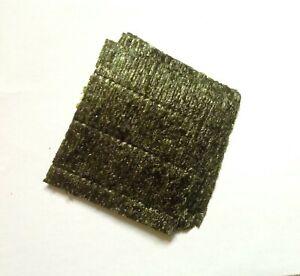"100 Sheets Grade A Nori seaweed. Marine Aquarium fish food 4""x4""Buy 3 get 1 free"