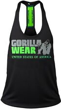 🦍 UK 3XL Gorilla Wear-Nashville Stringer Training top Mens Black/Green New+Tags