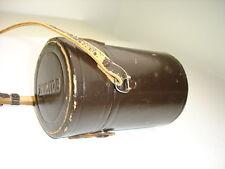 Genuine medium size NIKON NIKKOR LENS CASE with strap.  BROWN #01679