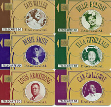 Big Band Recording Artists 6 Assorted Chip Phone Cards Super Stars Very Nice!