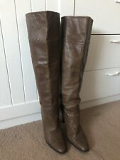 SACHI - Over The Knee - Brown Leather Boots 9/40 - Boho Luxe