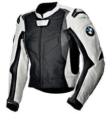 Mens Multicolor BMW Motorcycle Racing Biker Leather Jacket 100% Cowhide AllSIZES