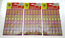 Kids Stickers ~ Fun Positive A+ Ribbon Acknowledgment ~ 96 count ~ Lot of 3