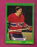 1973-74 OPC # 164 CANADIENS PETER MAHOVLICH EX CARD (INV# A5863)
