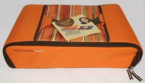 Rachael Ray - Orange Striped - Hot  Cold  Insulated Travel Food Carrier Bag Case