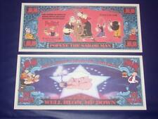 BEAUTIFUL UNC. POPEYE  NOVELTY NOTE ONLY .25 SHIPPING FREE SHIP + FREE NOTES!
