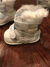 Timberland Crib Stomper Booties  Shoes Infant Baby 3-6 Months Sz 1 Hat 12849