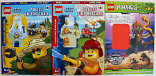 3 X LEGO Activity, Comic, Story, Puzzle, Books (NEW but no minifigs included) A4