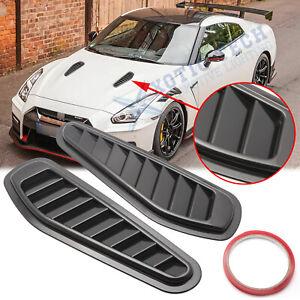 For Nissan GTR JDM Black Air Vent Intake Bonnet Hood Scoop Decoration Cover Trim