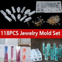 118pcs Silicone Resin Mold for DIY Jewelry Pendant Making Tool Mould