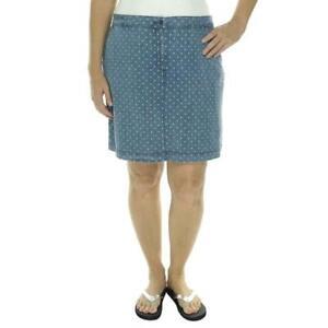 Karen Scott Skort Chambray Polka Dot Skirt Shorts Plus 22W NWT