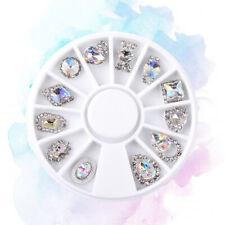 Femme Nail Art Ongles Cristal Strass Bijoux Glitter Manucure Décoration DIY 3D B