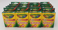 20 Packs of Crayola Classic Color 24 Pack Crayons, 24 Colors Box Bulk lot set