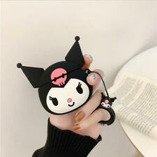 Cute Kuromi Soft Shockproof Case Cover Skin for Airpods Case Bag Strap Ring Gift