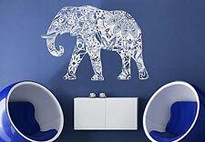 Wall Decal Vinyl Sticker Mural Ganesh Om Elephant Tattoo Mandala Tribal r310