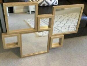 NEW Next Opus Mirrors Grouped Meduim Oak Multi Connecting Mirrors Wallart