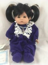Native American Indian Porcelain Baby Doll by Gene Schooley Signed Little Fawn