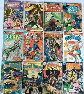12 Bronze Age DC Comics - Batman Superman Shadow Plastic Man Sgt Rock + Lots Mor