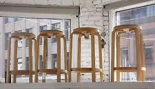 Set of 4 1964 vintage Alva Aalto bentwood mid century wood bar stools