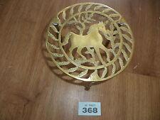 Antique brass trivet horse design