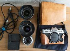 Fujifilm Fuji X-T10 Mirrorless Digital Camera (Silver) - Near Mint w/ 3 Lenses
