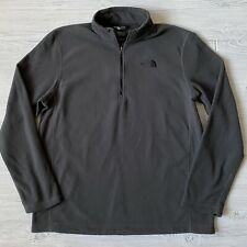 The North Face fleece quarter zip Shirt Mens Size Large Gray