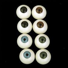 8Pcs Round Acrylic Doll Eyes Eyeballs Halloween Props 25mm
