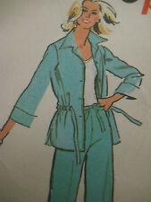 VTG Simplicity 8357 Drawstring Waist Casing Jacket  Sewing Pattern Women Size 12