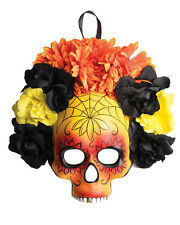 Adults Day Of The Dead Flower Full Masquerade Mask Costume Accessory
