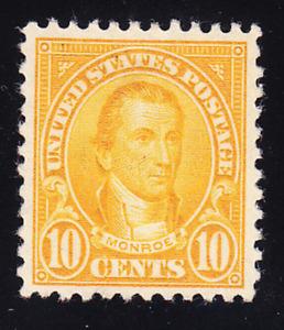 US Scott 562 old 10c Monroe regular issue M/H/OG/VF