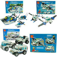 596Pcs Police Station Diecast Vehicle Building Block Bricks Game Educational Toy