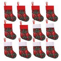 12 StüCke Weihnachts StrüMpfe Geschenke SüßIgkeiten Tasche Kinder Candy Soc H5H9