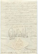 Royalty King Queen Signed Royal Document Letter Commission Appointment Autograph