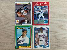 1990 Juan Gonzalez Rookie lot Upper Deck, Topps, Donruss & Fleer Pristine