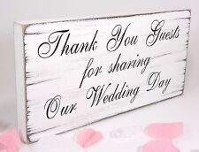 Wedding Thank You Sign Plaque Vintage Shabby & Chic Free Standing