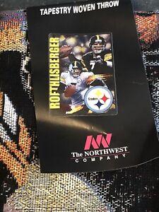Northwest Co Ben Roethlisberger Pittsburgh Steelers 48''x60'' Tapestry Throw NEW