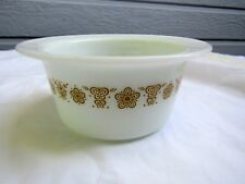Pyrex Gold Butterfly Round Butter Dish - NO Cover (Corelle)