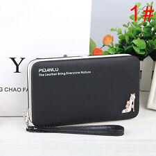 Damen Geldbörse Clutch Tasche Box Handy Börse Geldbeutel Portmonee Portemonnaie