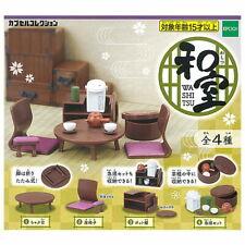 Epoch Toys Capsule Gashapon Japanese Room Washitsu Furniture Full Set 4 items