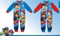 Boys Character Micro Fleece Paw Patrol Onesie Sizes 2,3,4,5,6 Years