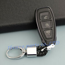 TPU Black Car Key Chain Holder For Ford Focus Escape Fiesta EcoSport Accessories