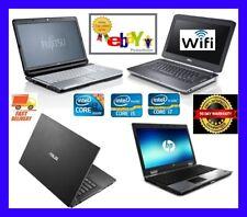 CHEAP FAST DUAL CORE, I3 I5 I7 LAPTOP WINDOWS 7 or 10 4GB 8GB 16GB RAM SSD & HDD