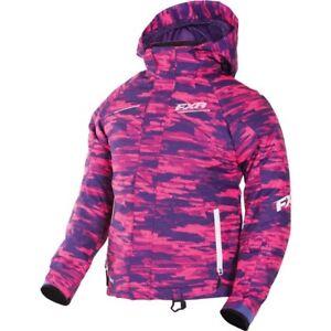 FXR™ Youth Fresh Berry Cascade/White Snowmobile Jacket 170401-8501-XX