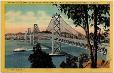 San Francisco-Oakland Bay Bridge From Yerba Island San Francisco CA Postcard
