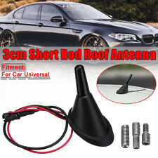 Car Universal Short Rod Roof Antenna + Base with Amplifier + Adapters Kits KK!